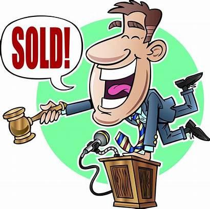 Auction Bidding Auctioneer Clipart Bid Rotary Cartoon