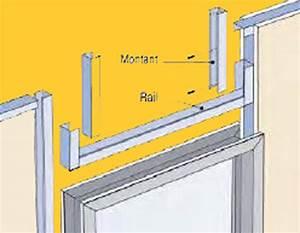 Pose De Placo Sur Rail : monter un mur ou une closison ~ Carolinahurricanesstore.com Idées de Décoration