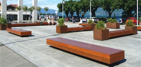 panchine arredo urbano panchine spazi pubblici big harris metalco