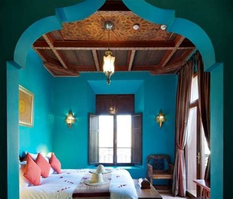 indian bedroom decor 7 beautiful indian inspired bedrooms 11886   indian decor with vibrant blue walls 480x410