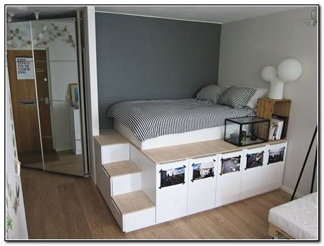 king size platform bed plans  storage diy storage