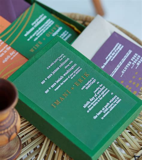 Kwanzaa Harvest Stationery Suite Jewel Tone Cards with