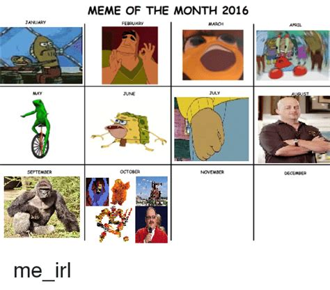 Memes Of The Month - meme of the month 2016 january april june october december ab me irl meme on me me