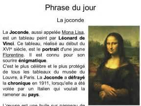 Mister Qui A Peint La Joconde by Phrase Du Jour La Joconde Ppt T 233 L 233 Charger