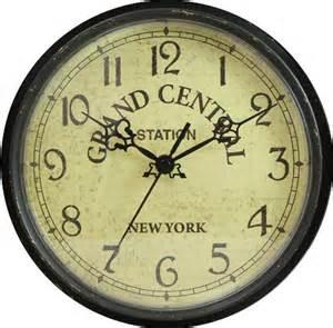 geneva 9 inch plastic wall clock grand central station