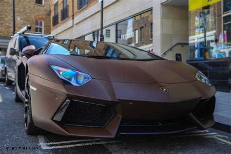 yay  nay matte brown lamborghini aventador