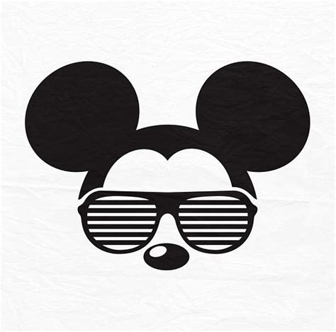 Almost files can be used for commercial. Disney Mickey Mouse, zonnebril, pictogram, hoofd, oren ...