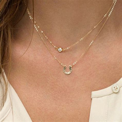 Gold Layer Necklace Simple Minimal Necklace Double Thin