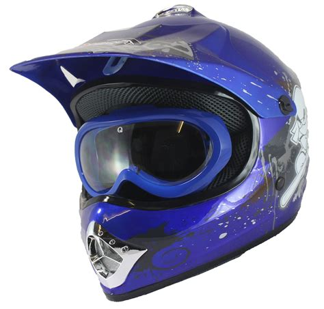 motocross helmets childrens kids motocross helmet goggles dirt bike quad