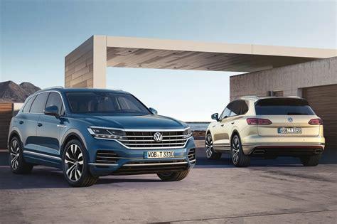 volkswagen touareg unveiled  kw  diesel