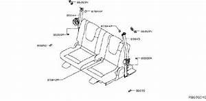 Nissan Rogue Seat Belt Receptacle  Almond  Row