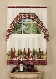 chardonnay complete tier swag set 36 quot l kitchen curtain