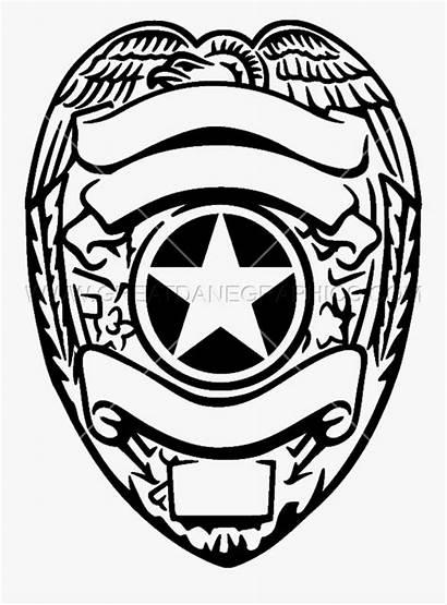 Badge Police Clipart Silver Cricut Clip Drawing