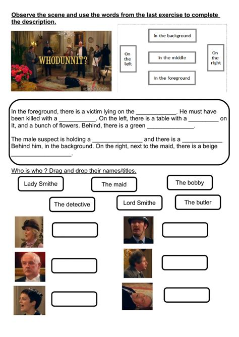 whodunnit worksheet