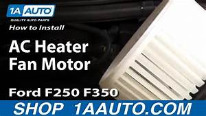 How To Install Replace Ac Heater Fan Motor 99