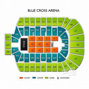 Blue Cross Arena Seating Chart