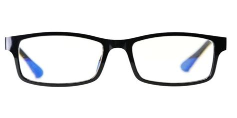 blue light glasses clear blue light protector eyewear style 708 black clear red