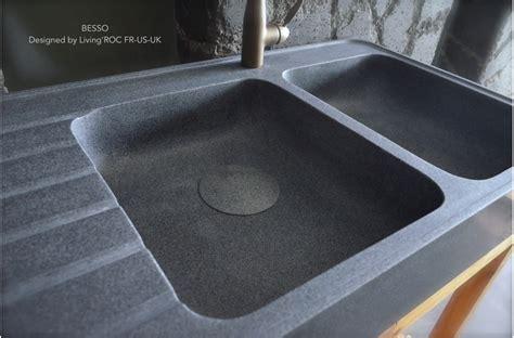 evier de cuisine en granite 120x60cm évier en granit pour cuisine 2 cuves