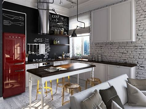 Rustic Kitchens Ideas - interior decorating tips colour your kitchen with smeg