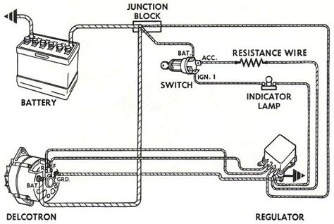 wiring instructions   early gm delco remy external