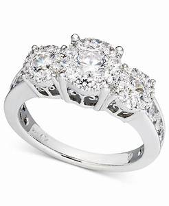 Macy39s diamond engagement ring and wedding band bridal set for Wedding rings in white gold