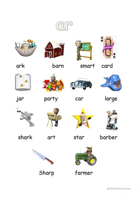 ar phonics worksheet  esl printable worksheets