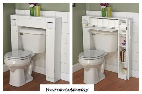 White Space Saver Bathroom Cabinet by New White Toilet Bath Cabinet Paper Storage Bathroom