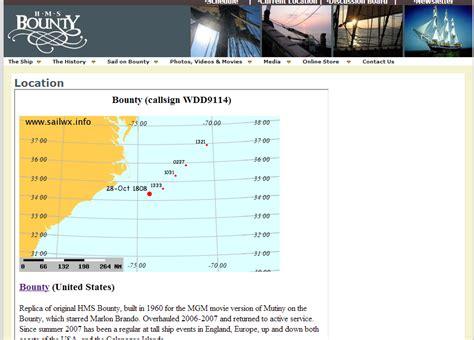 hms bounty sinking location hurricane harbor hms bounty abandoned sunk map of