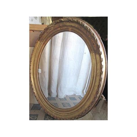 miroirs anciens bois dore miroir ancien en bois et platre dor 233 ovale bords abim 233 s broc23