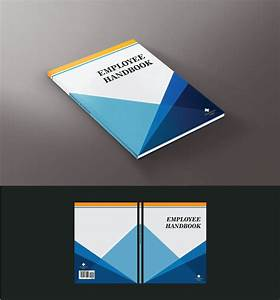 modern bold book cover design for college internship With employee handbook cover design template