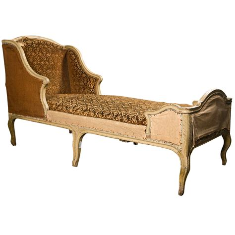 chaise style louis xv painted oak chaise longue in the rococo style
