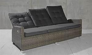Gartensofa 3 Sitzer : 3 sitzer gartensofa barcelona grau mix loungesofa sofa ~ Lateststills.com Haus und Dekorationen