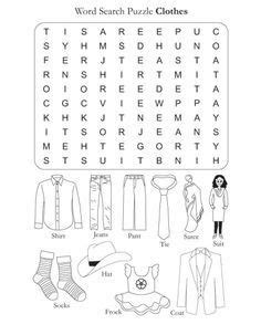 clothes worksheet primary    images