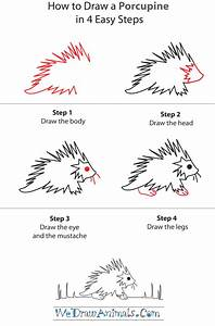 How To Draw A Porcupine - Step-by-Step Tutorial | How To ...