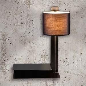 Wandlampe Mit Schalter : steng loft stripe wandlampe mit schalter und ablage ~ Watch28wear.com Haus und Dekorationen