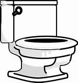 Bathroom Coloring Clipart Toilet Lid Open Seat sketch template