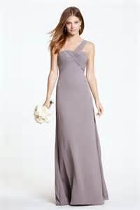 taupe bridesmaid dresses sheath one shoulder empire waist taupe chiffon wedding guest bridesmaid dress