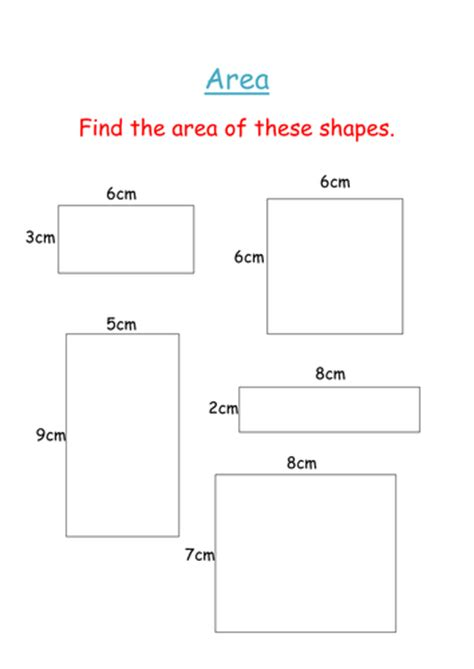 area of squares and rectangles worksheet by groov e chik