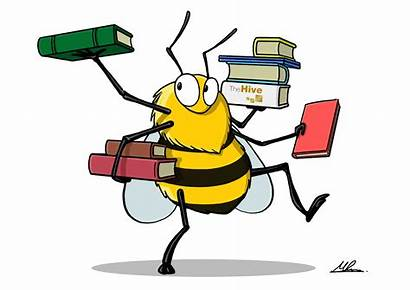 Library Bees Bee Animated Hive Clipart Knees