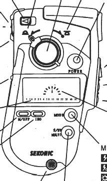 Sekonic Quick Guide, L308, L-408, L-718, L-508 instruction