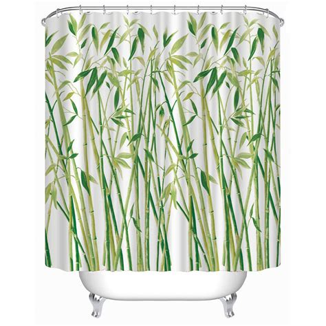 new shower curtain 3d small bamboo printed bathroom