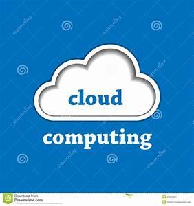 Cloud Computing Logo Template Stock Image - Image: 25040031