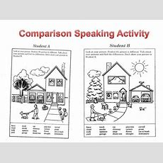 Efl  Esl Comparison Speaking Activity