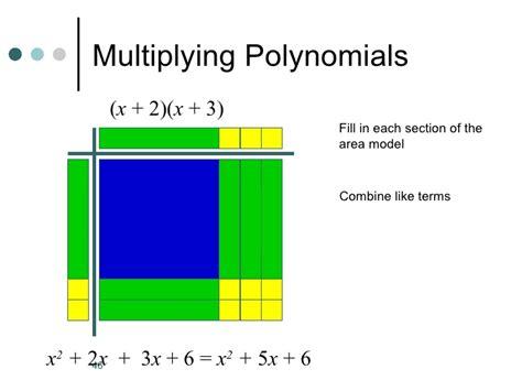Algebra Tiles Worksheets Multiplying Polynomials by Algebra Tiles Pp Version 2
