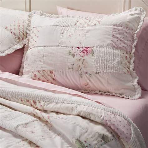 shabby chic white quilt rachel ashwell simply shabby chic chenille pink hydrangea patchwork quilt sham quilt shabby