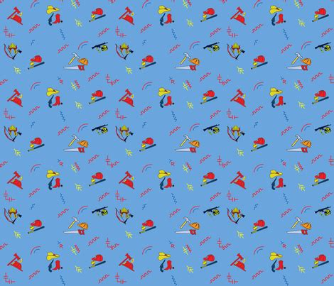 chucky good guys lighter blue fabric ww