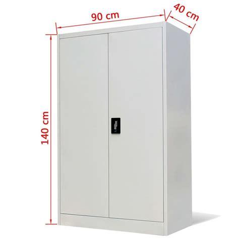 Steel Cupboard by Stratford Metal Cabinet 2 Door Cupboard 3 Shelves 140cm