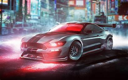 Mustang Cars Shelby Gt350r Ford Rain Wallpapers