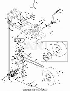 Mtd 13w277ss231 Lt 4200  2015  Parts Diagram For Transmission  Single Speed