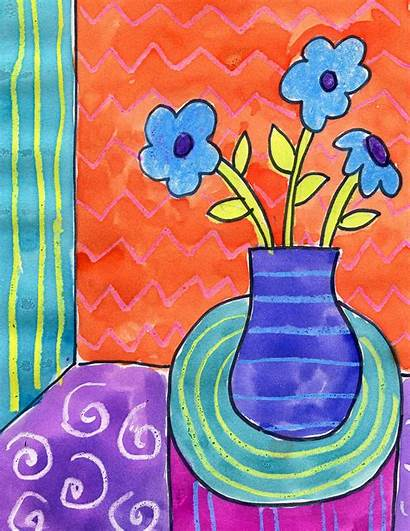 Matisse Draw Still Painting Watercolor Patterns Projects